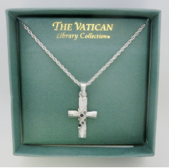 Silver Cross Vatican Collection Necklace