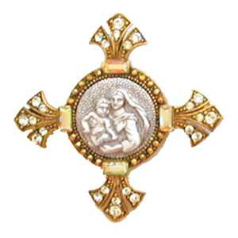 Sistine Madonna & Child Brooch