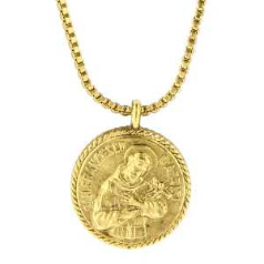 St. Francis of Assisi Medallion Necklace