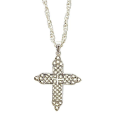Celtic Trinity Knotted Cross Necklace