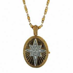 Christmas Star Locket Swarovski Crystal Necklace