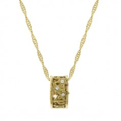 Gold Prosperity Ring Necklace