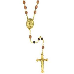 GOLD OLIVE WOOD ROSARY