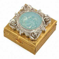 Mother and Child Gold, Silver, Enamel Vatican Pill box