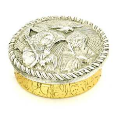 Silver & Gold Annunciation Rosary Box