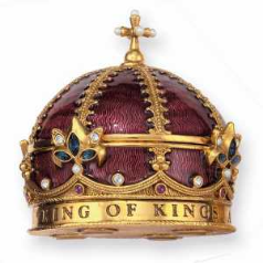 King of Kings Crown Gold-plated, Swarovski Crystals Rosary Box
