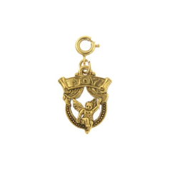 Swinging Cherub Joy Banner Charm