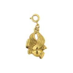 Gold Peace Dove Charm