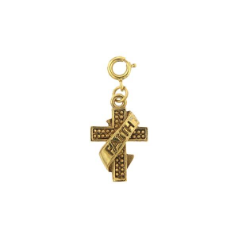 Gold Cross Faith Banner Charm