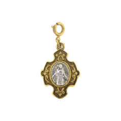 Two Tone Virgin Mary Charm