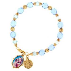 Mary and Child Beaded Bracelet