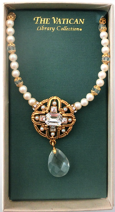 Pearl, Gold and Crystal Vatican Collection Necklace NA