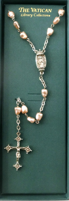Pink Fresh Water Pearl Vatican Collection Rosary NA