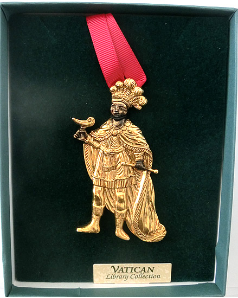 Gold-plated Wise Man Vatican Collection Ornament