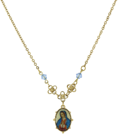 Mother Mary Pendant Necklace