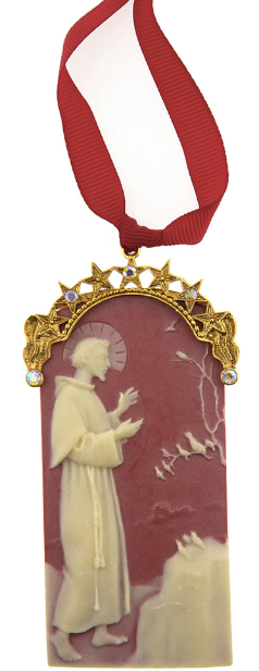St. Francis of Assisi Gold Cameo Ornament