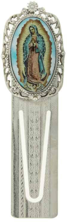Silver-Tone Our Lady of Guadalupe Bookmark