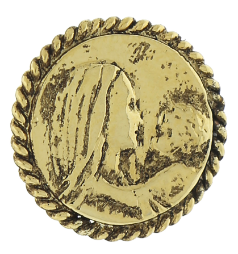 Gold-Tone Mary and Child Tie Tac Pin