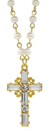 14K Gold-dipped Crystal Cross