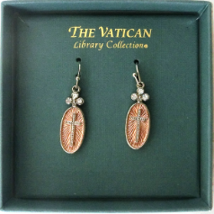 Vatican Collection Cross Charm Earrings