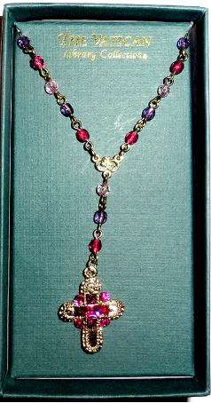 Gold Cross and Crystal Chain Vatican Collection Necklace