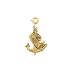 Anchor With Hope Banner Charm