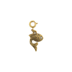 Austrian Crystal Jewely Gold Fish Charm