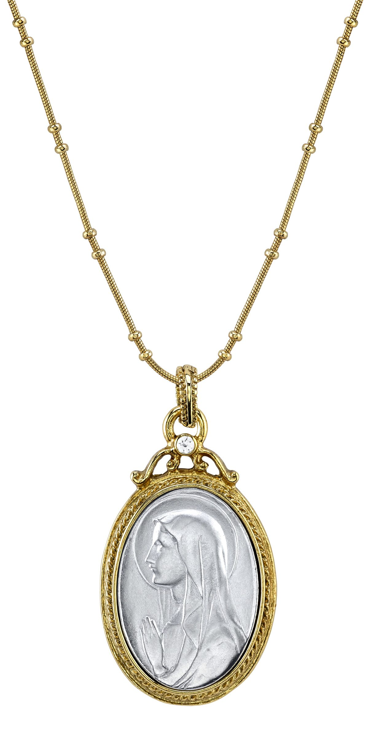 Virgin mary necklaces and virgin mary medals from the vatican virgin mary pendant necklace aloadofball Choice Image