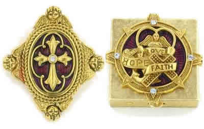 Faith, Love & Joy Vatican Jewelry, Vatican Library Collection, Catholic Jewelry