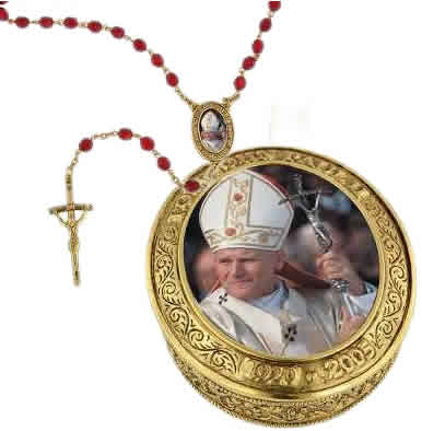 Pope John Paul II Vatican Jewelry, Catholic Jewelry, Vatican Library Collection