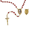 Pope John Paul II Siam Crystals - Gold Tone Rosary