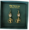 Gold-plated Fleur-de-LIs Vatican Library Collection Earrings