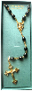 Black Bead and Gold Vatican Library Rosary