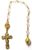Clear Swarovski Crystals Decade Rosary Beads