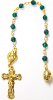 Emerald Swarovski Crystals Decade Rosary Beads