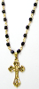 Vatican Jewely Jet Black Swarovski Crystals, Gold-plated Necklace