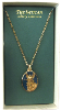 Gold and Sapphire Guardian Angel Pendant Necklace