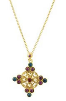 Gold and Crystal Cross Necklace
