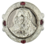 Silver, Crystal, Mother Mary Stretch Ring
