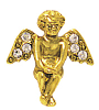 Gold-Tone and Crystal Angel Pin