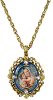 Mary and Child Necklace