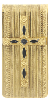 Gold & Onyx Cross Money Clip