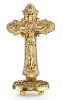 Glory Gold Tone Cruciix on Stand