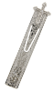Crystal Accented Floral Etched SilverTone Cross Bookmark
