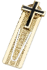 Black Enamel Cross Bookmark