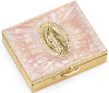 Pink Hand-Enameled Rosary Box