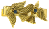 Gold-Tone Two Dove Tie Bar Clip