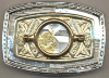 POPE JOHN PAUL II COIN BELT BUCKLE