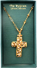 Gold and Crystal Vatican Collection Cross Necklace NA