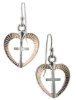 Heart and Cross Earrings
